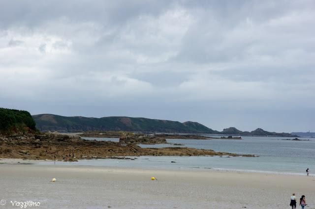 La bassa marea sulla spiaggia di Trevou Treguignec