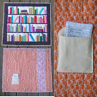 book library pocket mini quilt