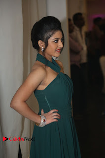 Actress Shriya Sharma Pictures in Long Dress at Nirmala Convent Audio Launch 0066