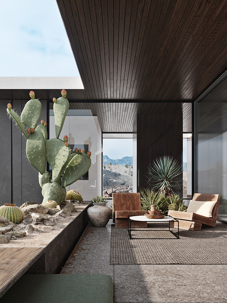Desert Palisades designed by Studio AR&D Architects and visualized by Hālō Studio