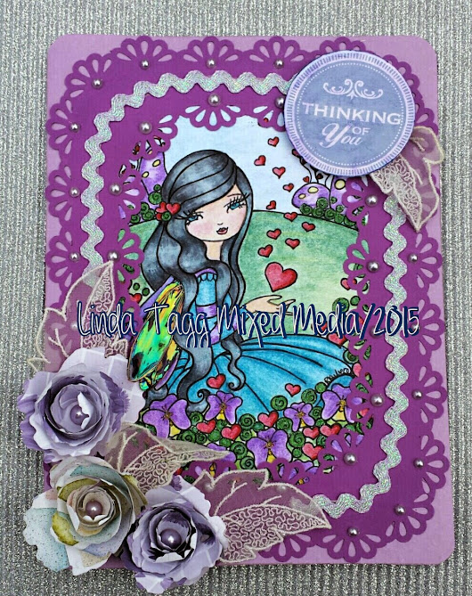 Thinking of You Card featuring Regan Kubecek's The Fairy Garden Digital Image