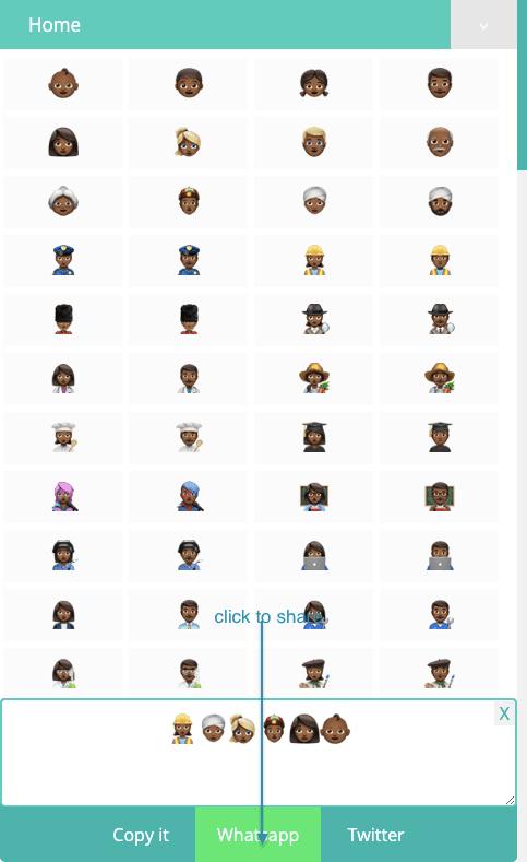 How to Share Dark Brown Emojis On Whatsapp?