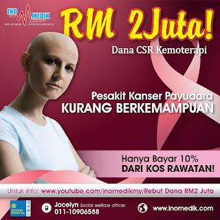 Dana Untuk Pesakit Kanser Payudara , Kos Rawatan Penyakit Kanser Payudara , Kanser Payudara Pembunuh No 1 Wanita, Rawatan Kanser Payudara ,