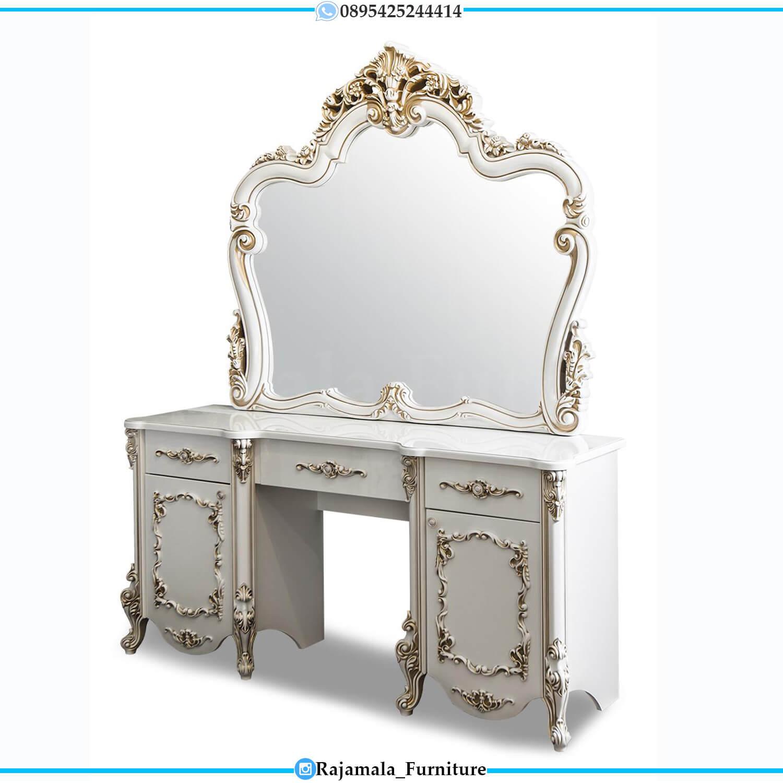 Set Meja Rias Mewah Jepara Putih Duco Luxury Beauty Vanity Room RM-0491