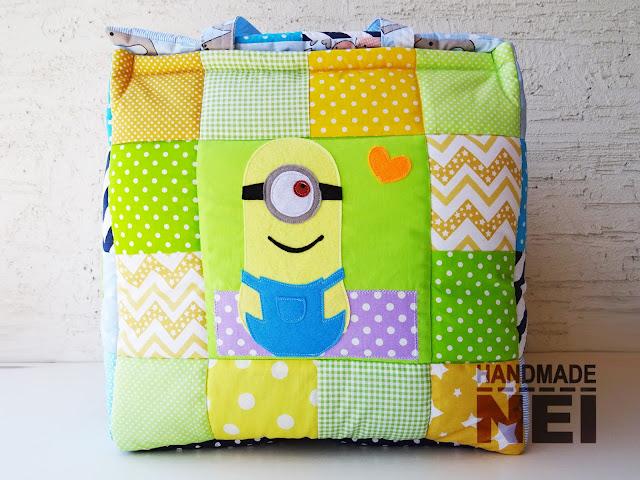"""Handmade Nel: Кош за играчки от плат """"Мартин""""2"""