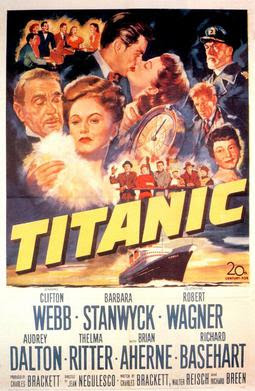 Poster of the film Titanic from 1953