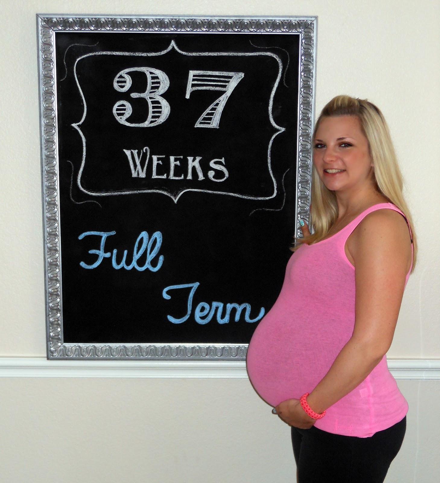 Being Mrs. Riley: Pregnancy: 37 Weeks ... Full Term