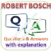 ROBERT BOSCH Test: Aptitude, Reasoning; Questions and Answers with Explanations PDFs