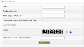 Linking Aadhar number with PAN
