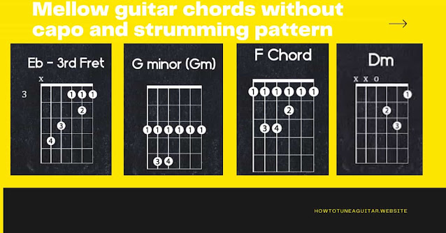 Mellow guitar chords without capo