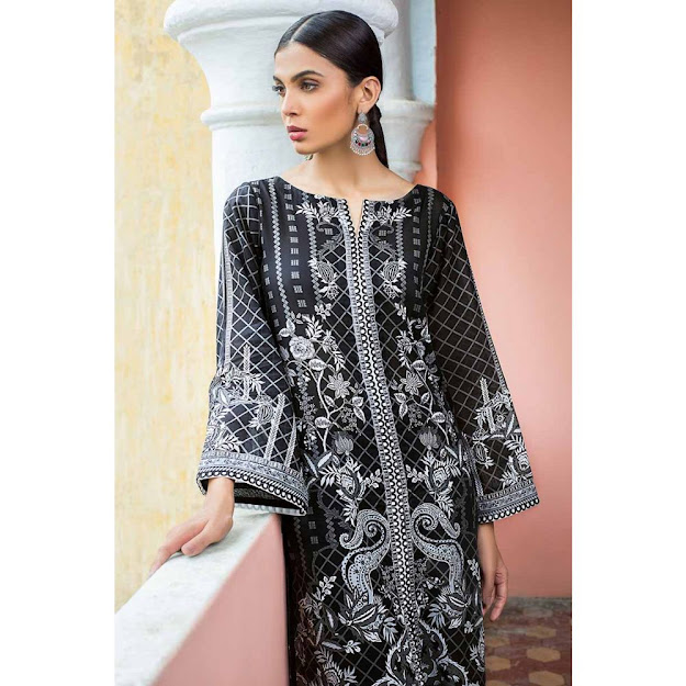 Gul Ahmed Black & White unstitched printed suits