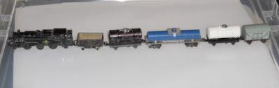 Lone Star 000/N gauge Steam 'Oil and Gas Tanker' starter train set