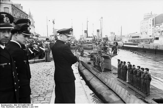 Admiral Doenitz and staff in St. Nazaire, France, worldwartwo.filminspector.com