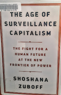 Book cover to The Age of Surveillance Capitalism: The Fight for a Human Future at the New Frontier of Power by Shoshana Zuboff