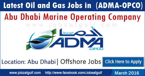 latest jobs in abu dhabi marine operating company adma opco. Black Bedroom Furniture Sets. Home Design Ideas