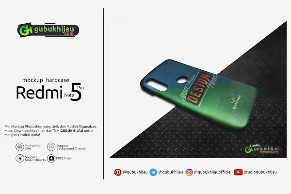 Mockup Custom Case Xiaomi Redmi Note 5 Pro