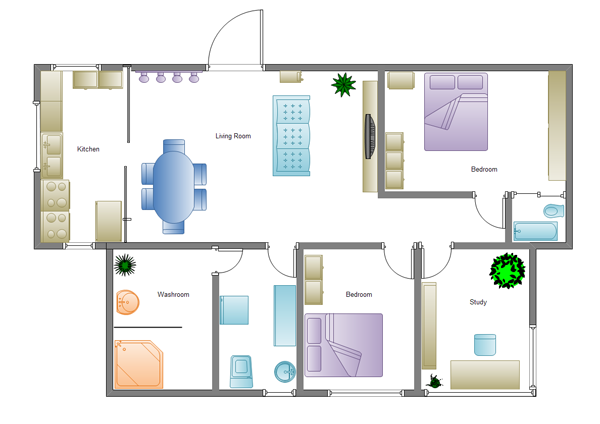 Making Simple House Plan Interesting and Efficient picture