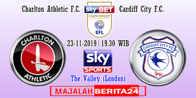 Prediksi Charlton Athletic vs Cardiff City — 23 November 2019