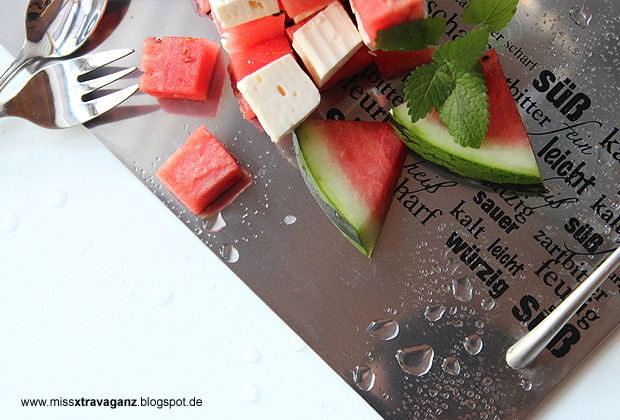 miss von xtravaganz rezept leichtes sommerdessert wassermelone trifft feta. Black Bedroom Furniture Sets. Home Design Ideas