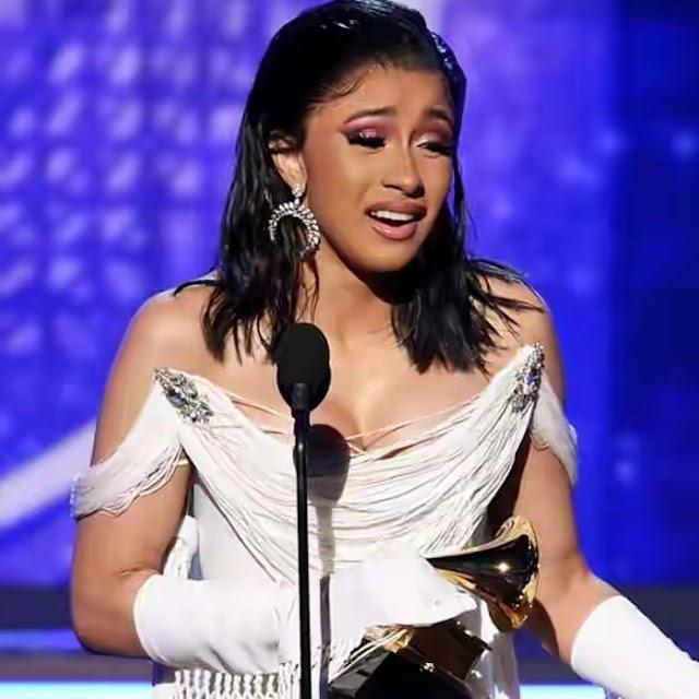 Celebrities react as Cardi B makes historic win at Grammy Awards 2019