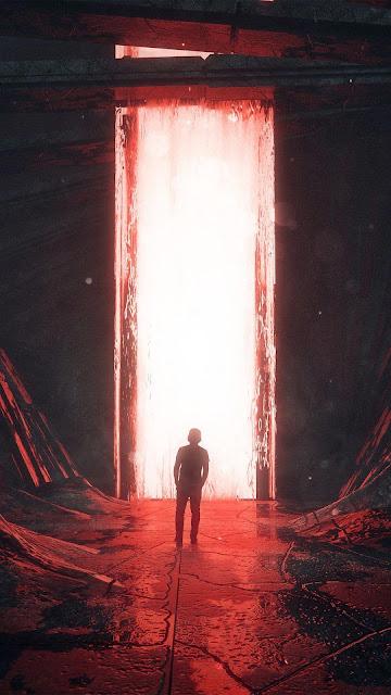 Red gate sci-fi wallpaper