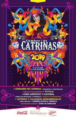 cumbre de catrinas teotihuacan 2019