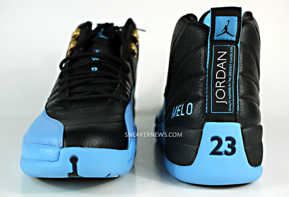 new product 92a95 68577 ... SN of a Air Jordan XII – Carmelo Anthony Nuggets Away PE Sneaker, what  do you guys think of these  Peep a gang of detailed photos of this sneaker  after ...