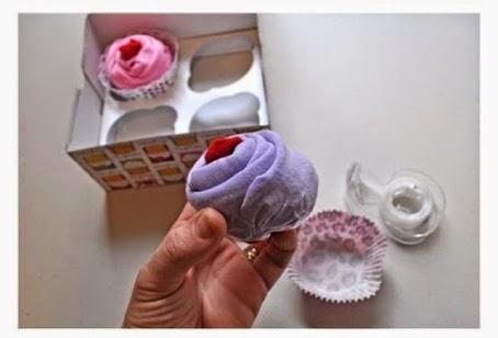Cara Membuat Kerajinan Tangan Unik, Cupcake Bunga 6