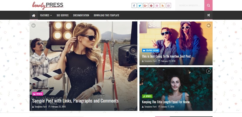 BeautyPress Free Blogger Template