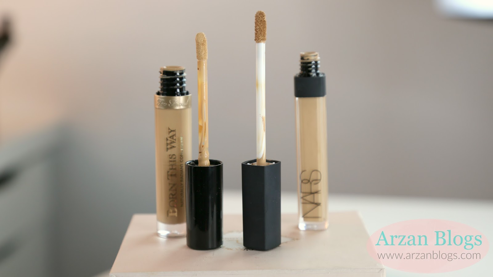 Beauty Too Faced Born This Way Concealer Nars Radiant Creamy Custard I Decided To Compare 29 022 Oz With 28 023 Both Of Them Come Doe Foot