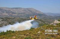 Σε ύφεση οι πυρκαγιές στην Πελοπόννησο