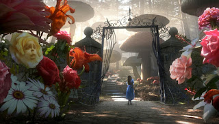 Alice steps into Wonderland and perceives a completely new reality