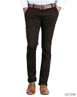 Cotton Slim Fit Solid Trousers