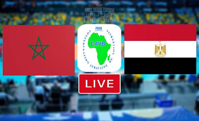 Match En Direct : Maroc vs Egypte en CAVB- Championnat d'Afrique De Volleyball 2021
