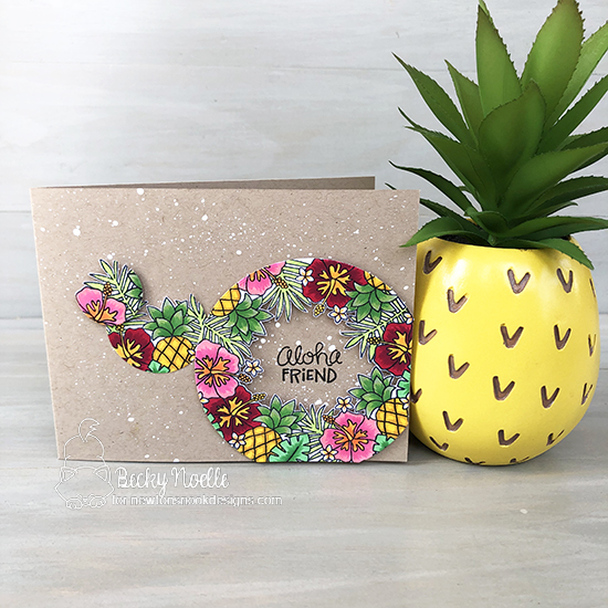 Aloha Friend by Becky features Tropical Fringe by Newton's Nook Designs; #newtonsnook