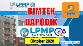 Bimtek Dapodik LPMP Jateng Oktober 2020