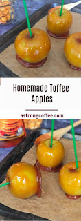 homemade toffee apples