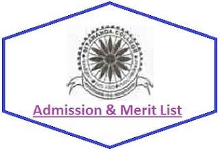 Sitananda College Merit List