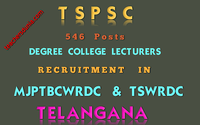 TSPSC-DEGREE-COLLEGE-LECTURERES-In-Residential-Degree-Colleges-Recruitment-Notification
