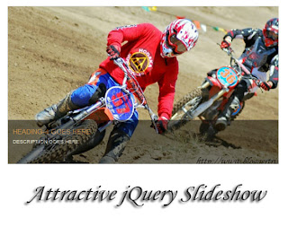 In this postal service im gonna explicate how to add together attractive jQuery slideshow to your blogger Attractive jQuery Slideshow for Blogger