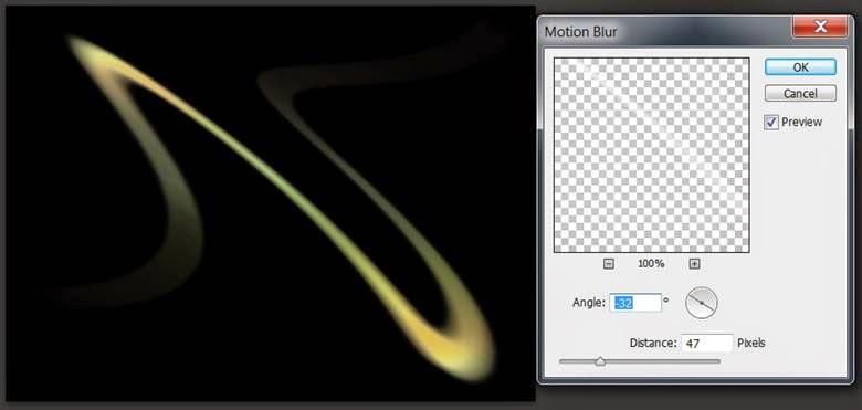 , bạn vào Filter, Blur, Motion Blur sinh động