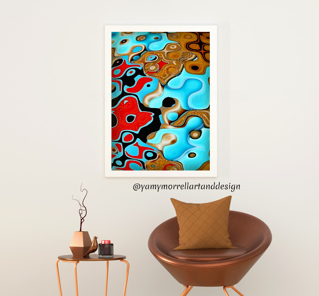 Blue-and-brown-colorful-abstract-art-set-by-yamy-morrell