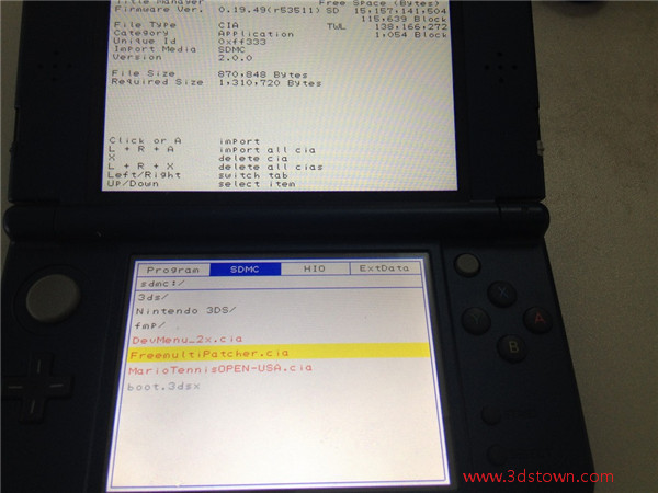3DSTOWN COM: Sky3ds support CIA games and go to eshop with help of