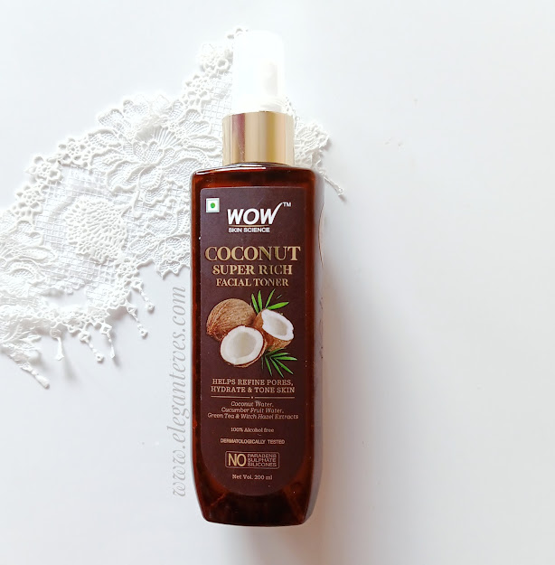 Review of Wow Skin Science Coconut Super Rich Facial Toner