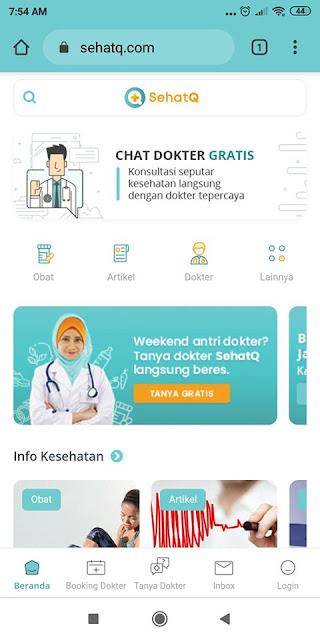 website kesehatan sehatq.com