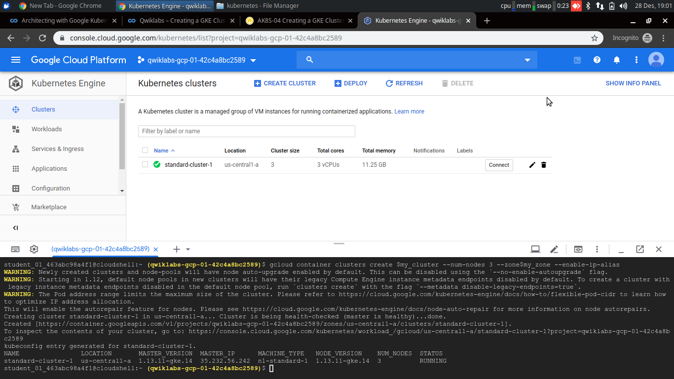 deploy and scaling kubernetes GCP