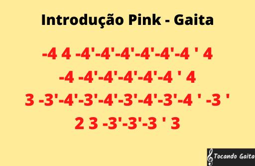 Introdução pink gaita tablatura