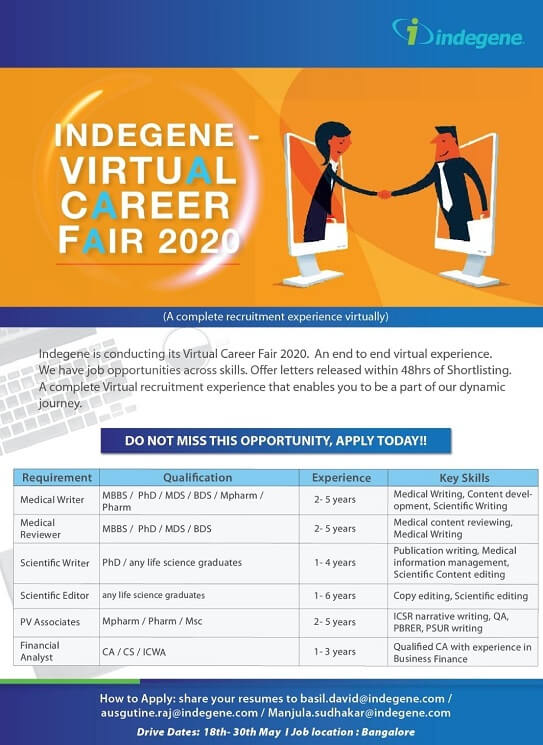 Indegene Virtual Career Fair 2020