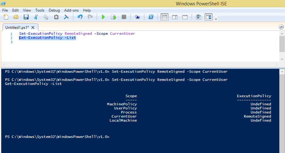 Microsoft Dynamics NAV By Binesh: POWERSHELL SCRIPT CANNOT
