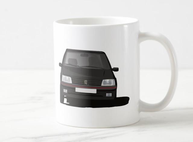 Peugeot 205 GTi coffee mug
